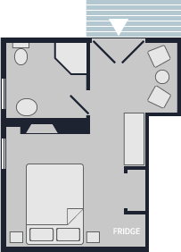 Deluxe rooms with fireplaces carpe diem guesthouse inn for Baldwin floor plan