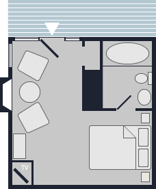 Jean Cocteau Room Layout